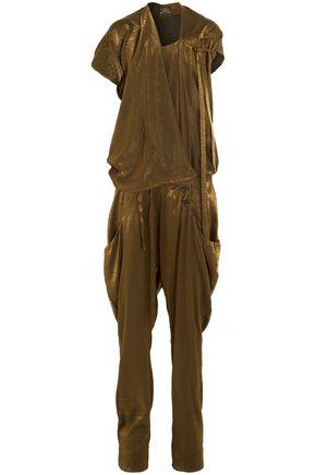 VIVIENNE WESTWOOD ANGLOMANIA Draped lamé jumpsuit