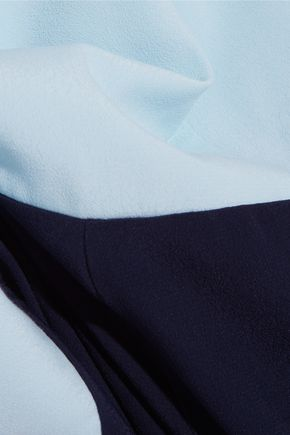 STAUD Ross two-tone crepe jumpsuit