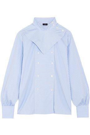 JOSEPH Bix striped cotton-poplin shirt