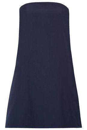 ALICE + OLIVIA Strapless cotton-poplin mini dress