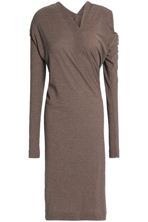 VIVIENNE WESTWOOD ANGLOMANIA Draped cutout ribbed jersey dress
