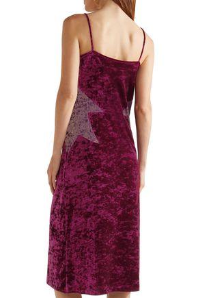 ANNA SUI Starburst crushed-velvet slip dress