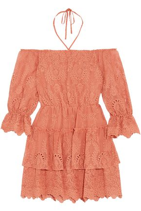 ALICE + OLIVIA Waylon off-the-shoulder broderie anglaise mini dress