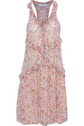 IRO Baden ruffled floral-print chiffon dress