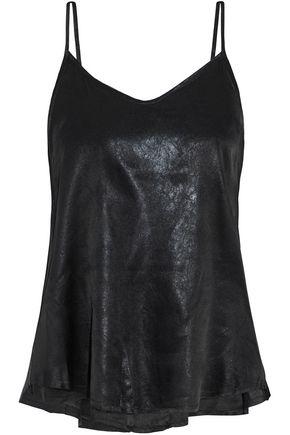 RTA Lilian coated silk-chiffon camisole