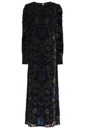 ANNA SUI Devoré-velvet maxi dress