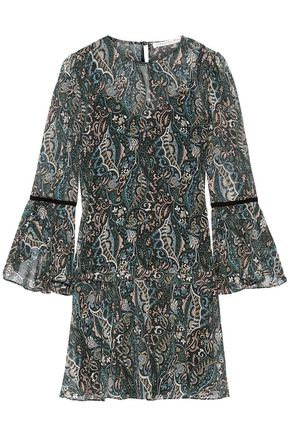 VERONICA BEARD Denver printed silk-chiffon mini dress