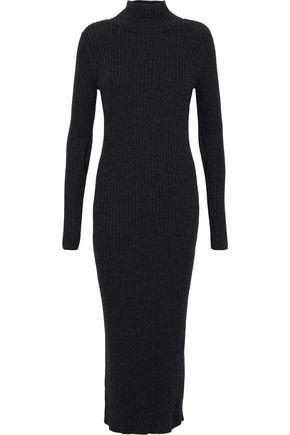 IRO Tourka cutout ribbed wool turtleneck midi dress