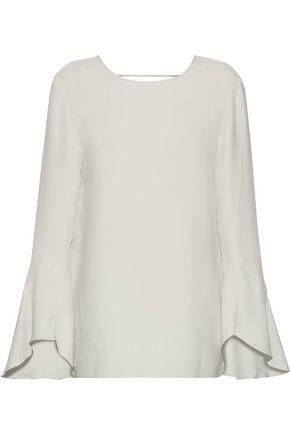 IRO Cutout fluted crepe blouse