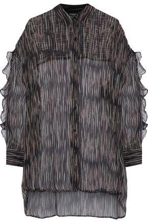 IRO Calgary ruffle-trimmed printed georgette blouse