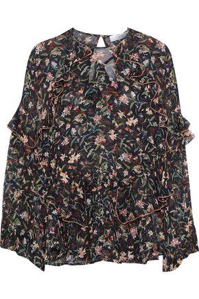 IRO Floral-print crepe blouse