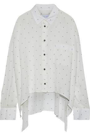 IRO Muma oversized printed voile shirt