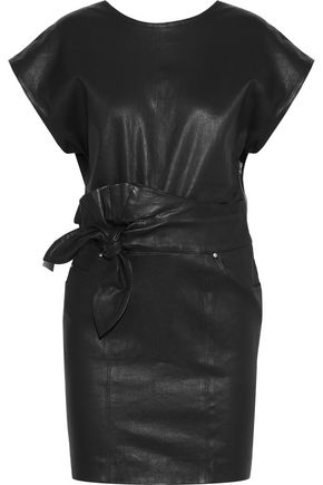 IRO Altina knotted leather mini dress