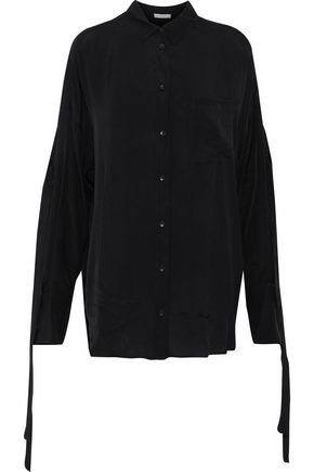 IRO Cobi knotted woven shirt