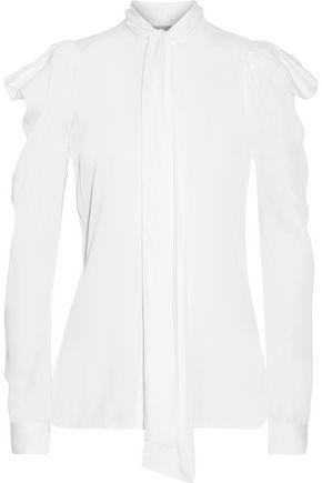 MICHAEL MICHAEL KORS Pussy-bow silk-blend blouse