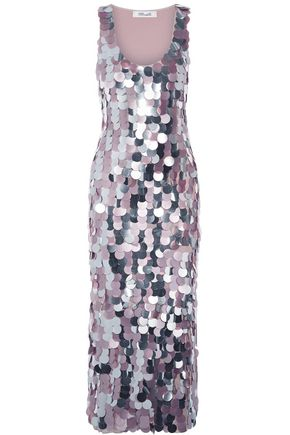 DIANE VON FURSTENBERG Sequined silk-satin gown