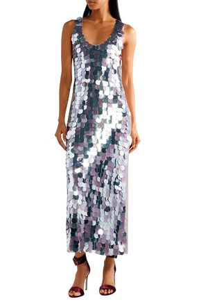 DIANE VON FURSTENBERG Sequined silk-satin gown