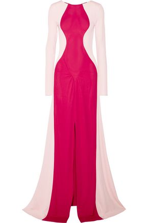TOME Two-tone crepe gown