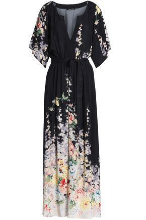 LOVE SAM Belted voile maxi dress