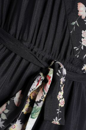 LOVE SAM Wrap-effect printed cotton jumpsuit