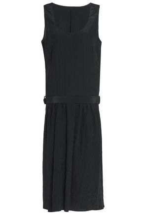JIL SANDER Belted crinkled shell dress