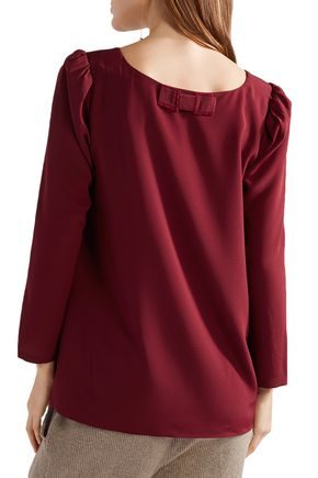 HATCH Gathered crepe de chine top