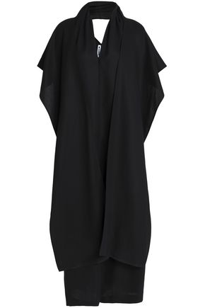 JIL SANDER Paneled cotton midi dress