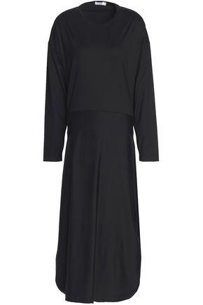 JIL SANDER Stretch-cotton jersey midi dress