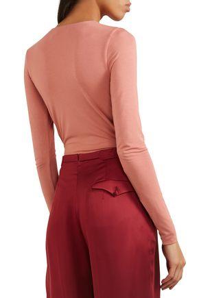 PROTAGONIST Wrap-effect stretch-modal jersey bodysuit
