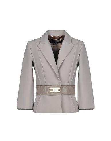 Фото - Женский пиджак ELISABETTA FRANCHI 24 ORE серого цвета