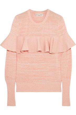 APIECE APART Ruffled cotton-blend sweater