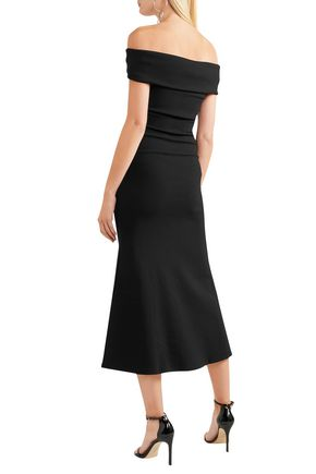 MICHAEL LO SORDO Off-the-shoulder ponte midi dress