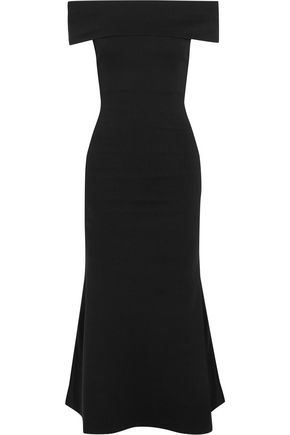 MICHAEL LO SORDO Off-the-shoulder ponte midi dress