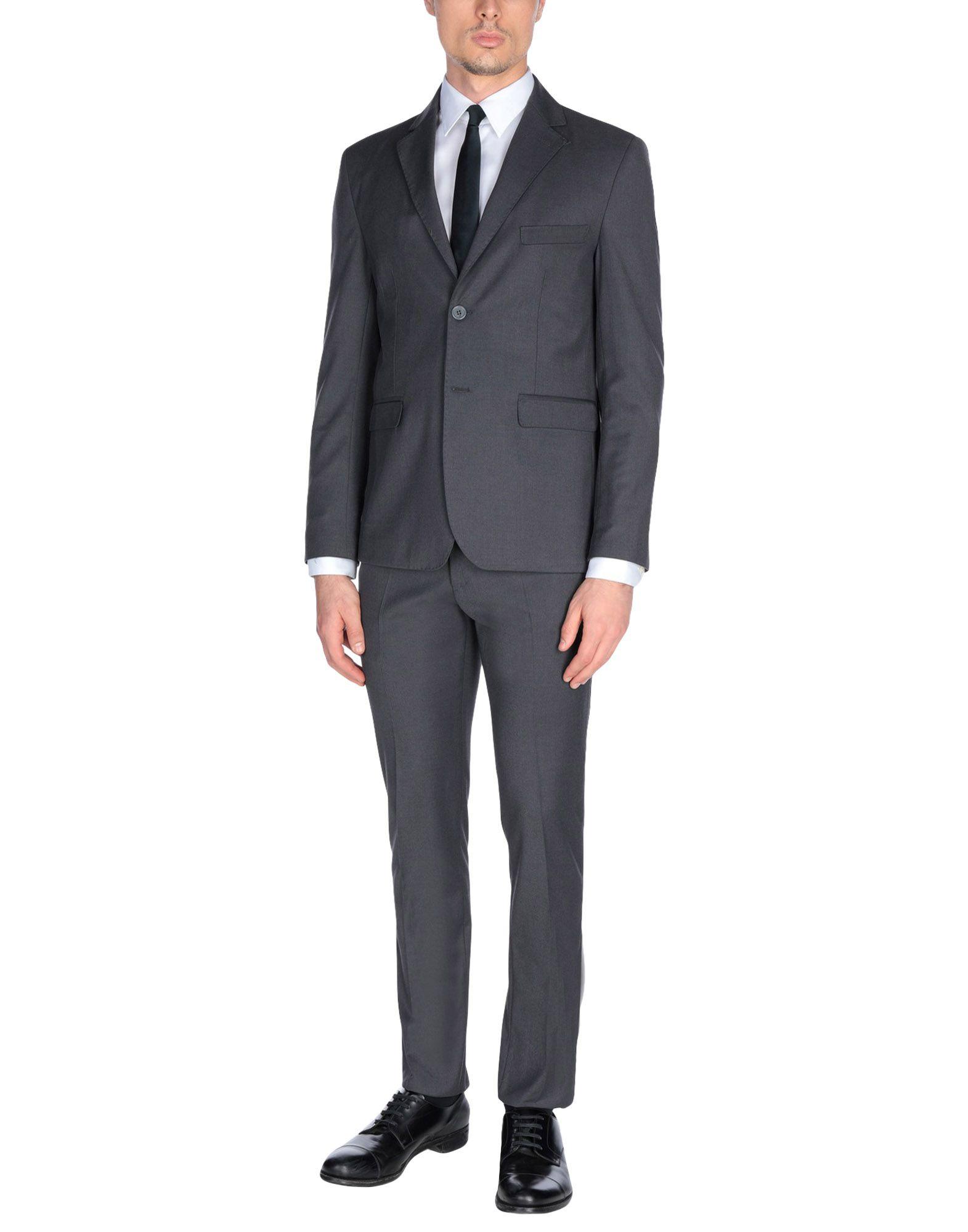 《送料無料》DE BOTTIS Sartoria Italiana メンズ スーツ グレー 46 ウール 100%