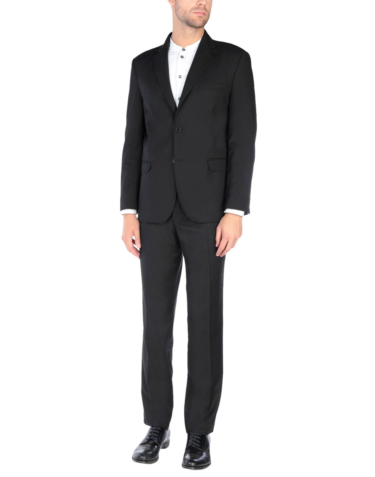 《送料無料》DE BOTTIS Sartoria Italiana メンズ スーツ ブラック 50 ウール 100%