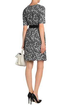 GOAT Printed crepe mini dress