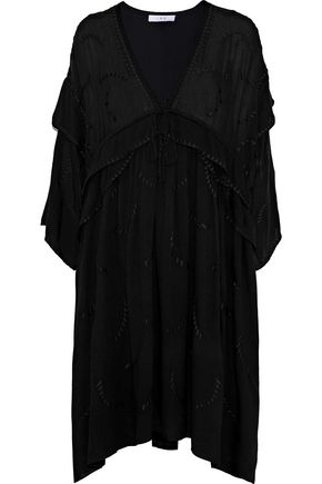IRO Falls layered embroidered gauze mini dress