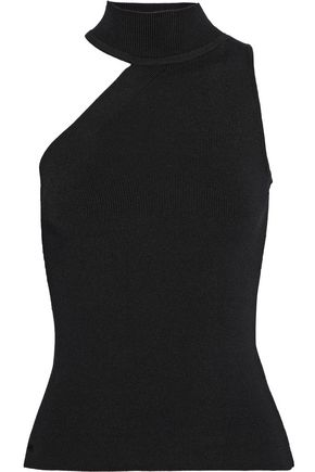 CUSHNIE ET OCHS Lucia one-shoulder ribbed-knit top