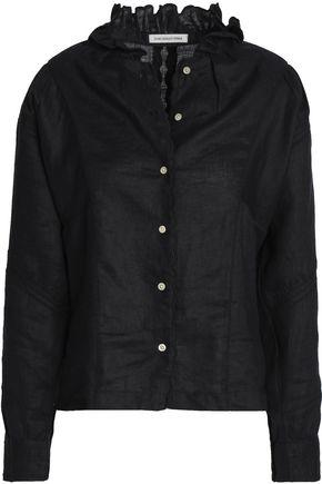 ISABEL MARANT ÉTOILE Ruffle-trimmed linen shirt