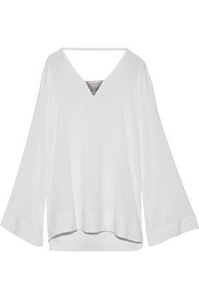 BRUNELLO CUCINELLI Bead-embellished silk-blend top