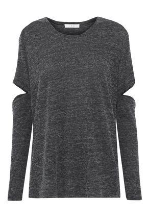 IRO Ilrier cutout mélange jersey top