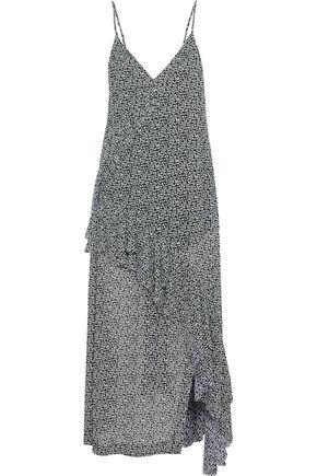 IRO Granby wrap-effect printed crepe de chine midi dress