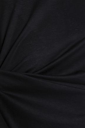 JIL SANDER Draped cotton and modal-blend top