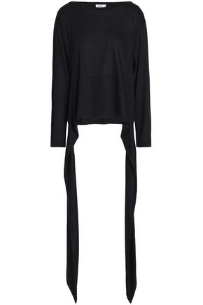 JIL SANDER Draped cotton and modal-blend top