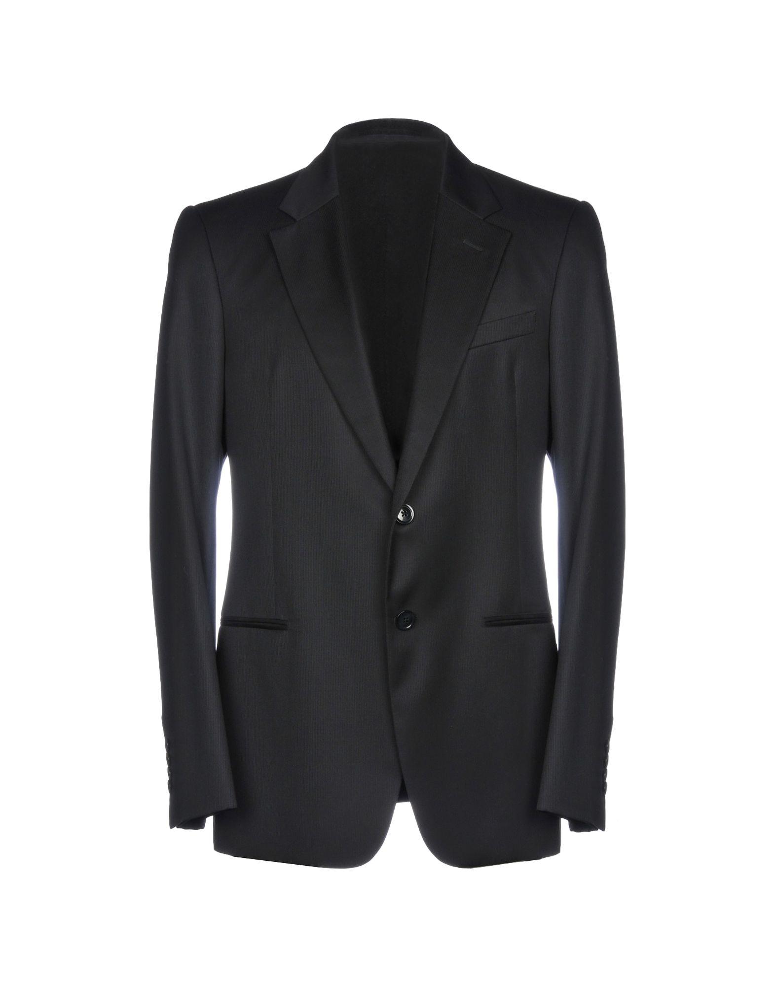 《送料無料》ARMANI COLLEZIONI メンズ テーラードジャケット ブラック 52 ウール 100%