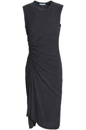JAMES PERSE Ruched cotton-jersey dress