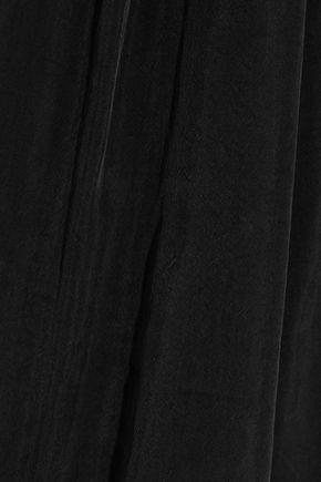 IRIS & INK Crystal cold-shoulder brushed crepe de chine top