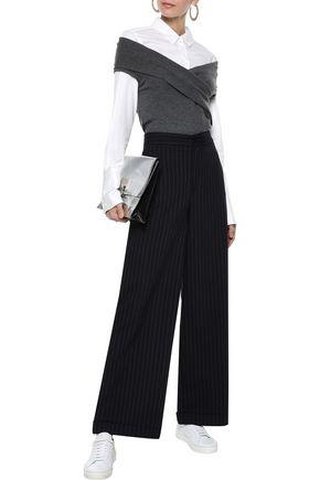BRUNELLO CUCINELLI Off-the-shoulder cashmere-blend top