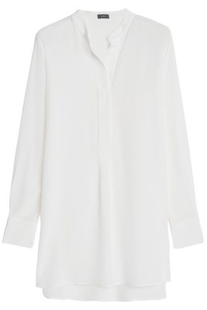 JOSEPH Dara washed-silk tunic