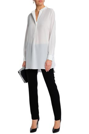 JOSEPH Dara washed-silk tunic